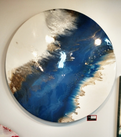 blue wave  by artist Lacy Husmann