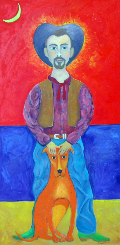 Cowboy and Dog by artist Craig Irvin