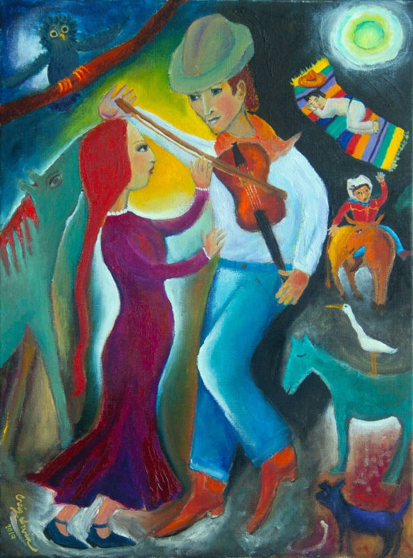 Dancing with the Fiddler by artist Craig Irvin