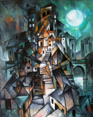 City at Night by artist Ping Irvin