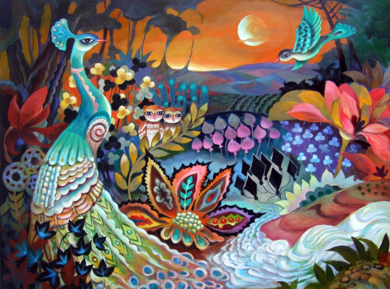 Peacock Dream by artist Ping Irvin