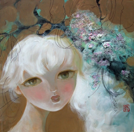 White Hair Girl by artist Ping Irvin