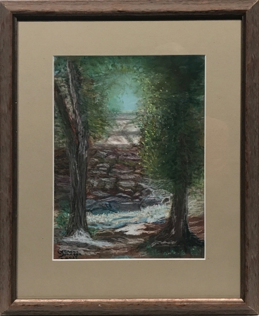 Mysterious Pathway to the Santa Fe River by artist Geneva Johnson