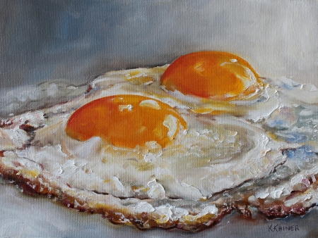 Fried Eggs by artist Kristine Kainer
