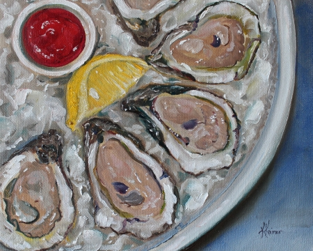 Oysters on the Half Shell by artist Kristine Kainer