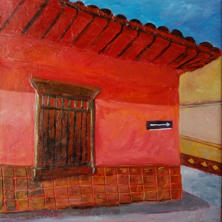 A Colorful Street Corner by artist Olga Lora