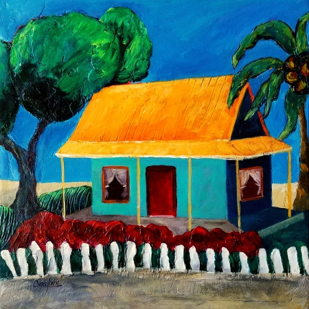 Little Home at The Caribbean by artist Olga Lora