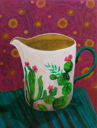 The Texas Hill Country Vase by artist OLGA LORA