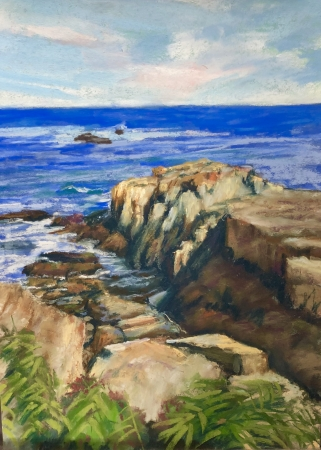 Perkins Cove, Ogunquit by artist Janis Langley