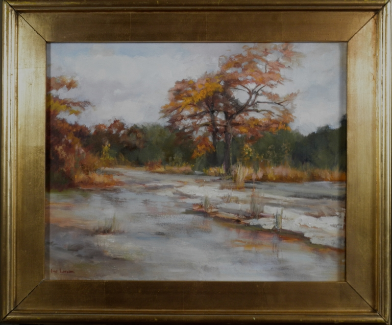 Autumn at Fall Creek by artist Eve Larson
