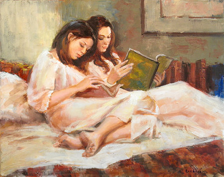 Bedtime Reading by artist Eve Larson