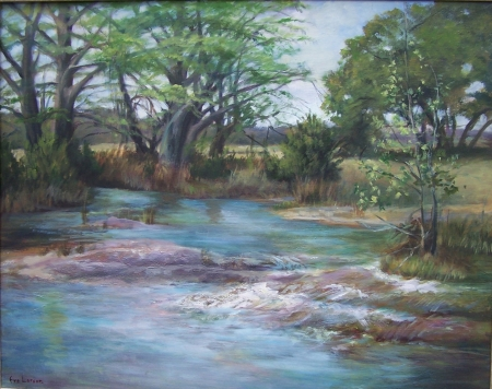 Early Spring Creek by artist Eve Larson