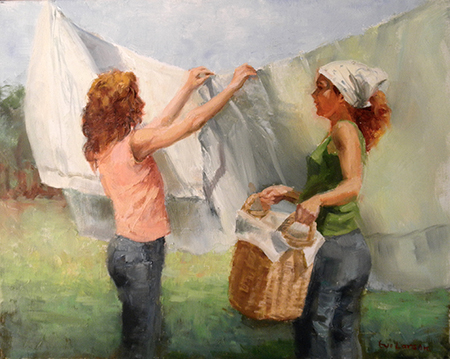 Laundry Day by artist Eve Larson