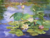 Lotus and Lilies by artist Eve Larson