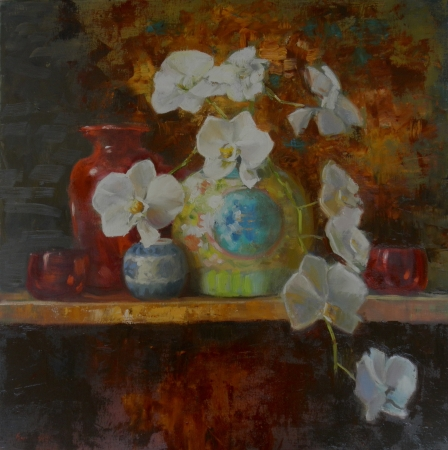 Orchids by artist Eve Larson