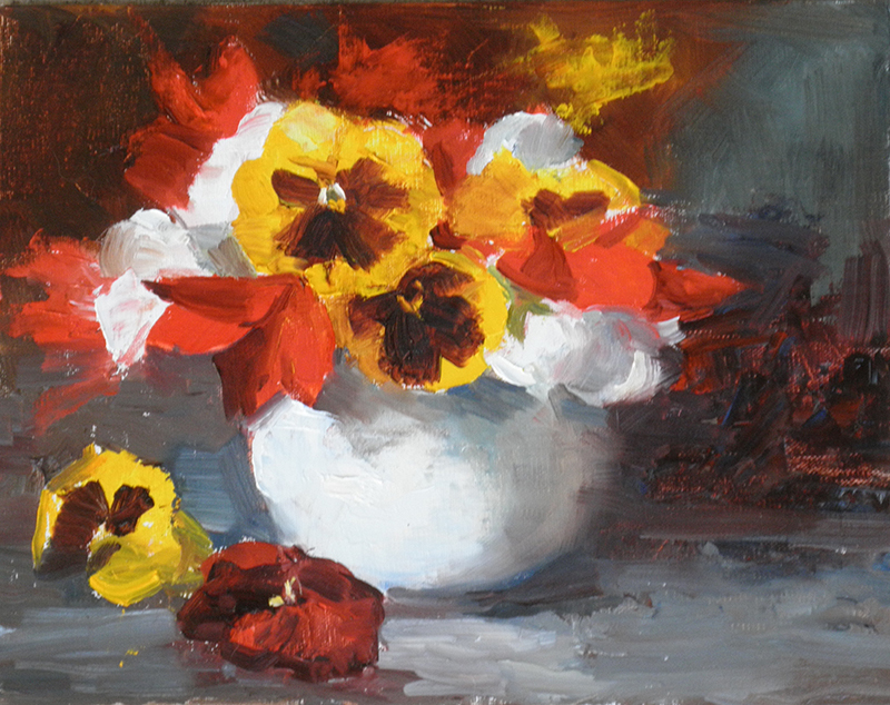 Pansies by artist Eve  Larson