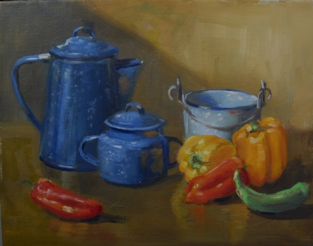 Peppers by artist Eve  Larson