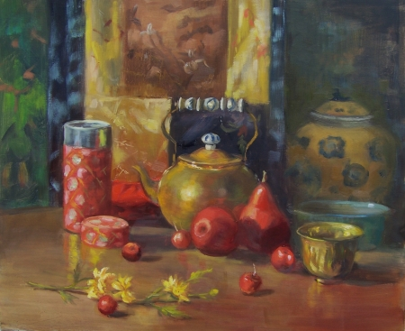 Red Pears by artist Eve  Larson