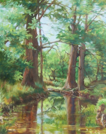 Summer Cypress by artist Eve Larson