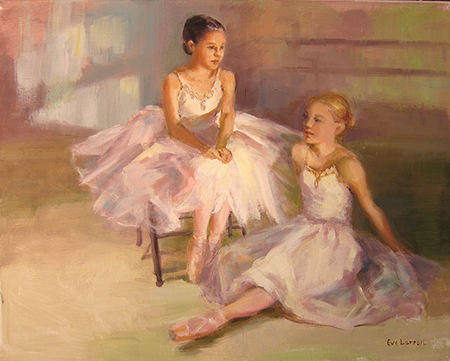 Waiting for the Curtain by artist Eve  Larson