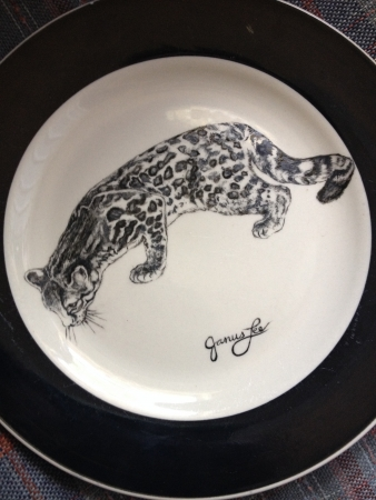 Big Cats of Texas, II: Ocelot by artist Janus Lee