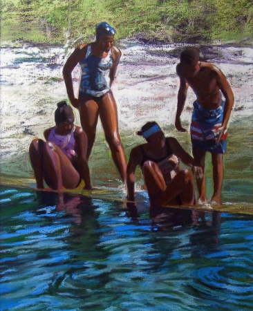 Having Fun at the Blue Hole by artist Nancy Lilly