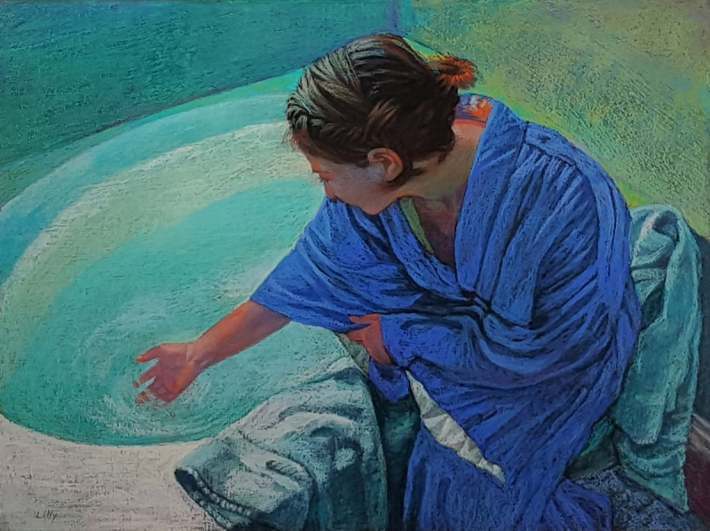 The Blue Robe by artist Nancy Lilly