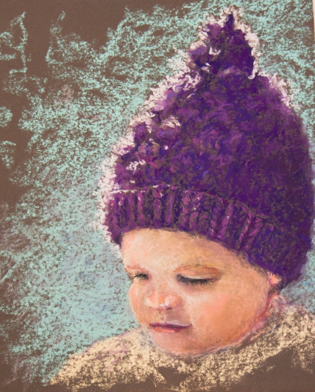 Purple Hat by artist Robin Lively