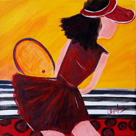 Ruby, like tennis too by artist Olga Lora