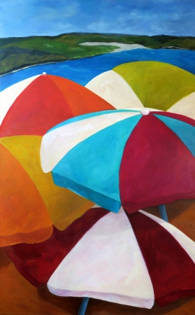 Umbrellas at The Oasis by artist Olga Lora