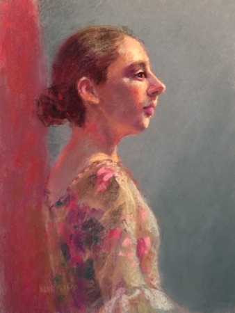 Catherine Offstage by artist Cindy McBride