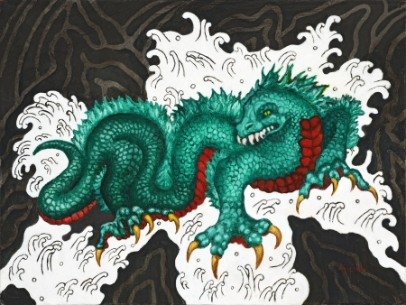 Water Dragon by artist Cynthia Milne