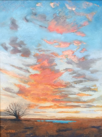 Sunset at the Tank by artist Mary Olivera
