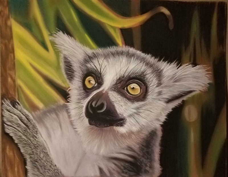 Curious Lemur by artist Ricardo Robles