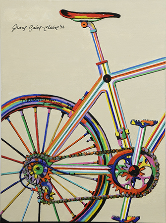 Cycling by artist Grant Saint-Claire