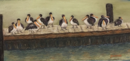 Galveston Bay Peers by artist Julie Schmidt