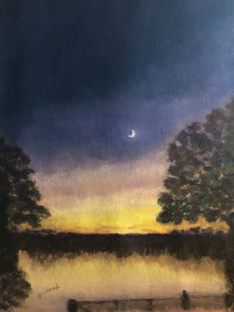 Moon-kissed in Marble Falls by artist Julie Schmidt