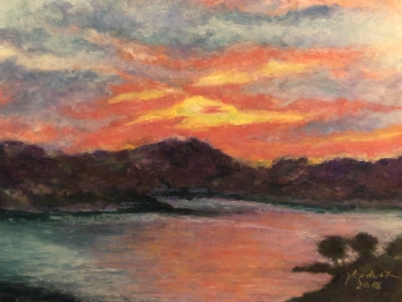The Evening's Gift - Rough Hollow at Lake Travis by artist Julie Schmidt