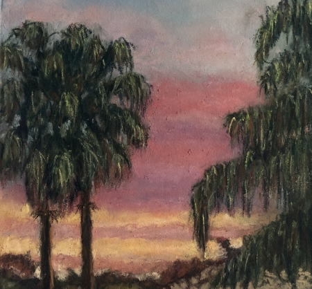 Sunset in the Hood by artist Julie Schmidt