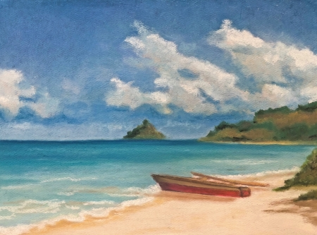 Outrigger by artist Denise Schneyer