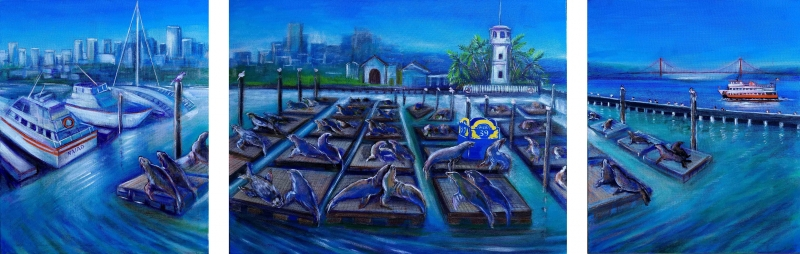 Love and the City. Pier39. San Francisco. by artist Anastasia Shimanskaya