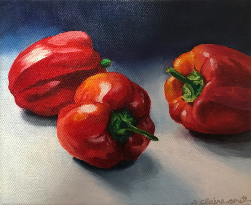 Peppers by artist S. Claire Smith