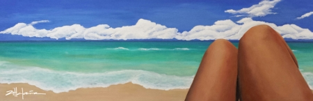 Day at the Beach by artist Marcy Ann Villafana