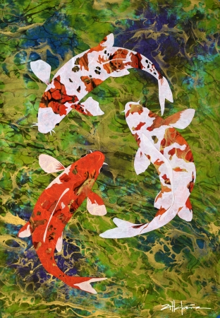 Aren't We Koi? by artist Marcy Ann Villafana