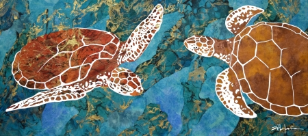 Dancing Turtles of the Deep by artist Marcy Ann Villafana