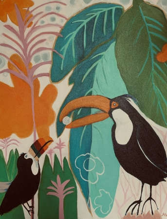 Toucans by artist Mary Wallace-Green