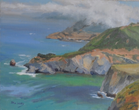 Fog Rising Over Garrapata by artist Ellen Wheelock Willis