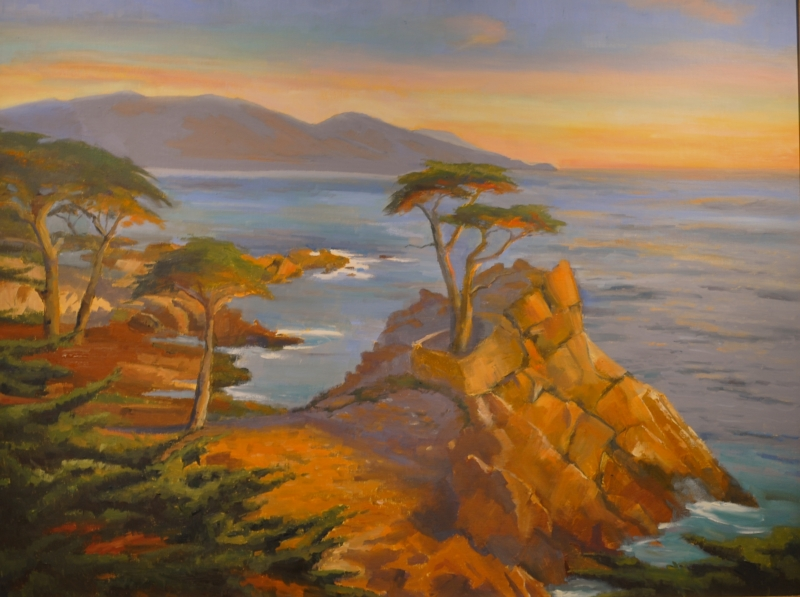 Lone Cypress by artist Ellen Wheelock Willis
