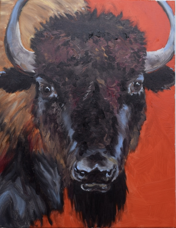 Brother Buffalo by artist Andrea L. Wolf