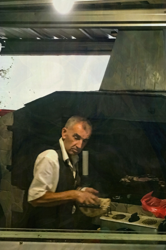 A Chef in Mostar by artist Michael Wright